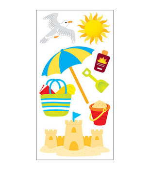 Sandylion Dimensional Stickers-Day At The Beach