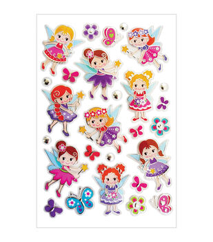 Forever In Time Glitter Fairy Foil Stickers Sheet
