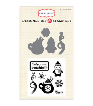 Carta Bella Die & Stamp Combo Set-Cold Outside