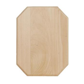 Walnut Hollow Pine Plaque-11''x14''x.6875''/Corner Clipped