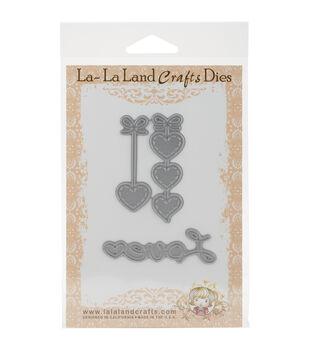 La-La Land Crafts Hanging Hearts & Love Word Dies