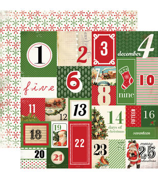 """Christmas Time Double-Sided Cardstock 12""""X12""""-Countdown To Christmas"""