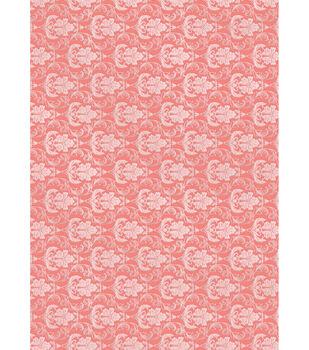 Kanban The Mitford Collection Hvywt Bkrnd Card Sheet-Filigree Coral