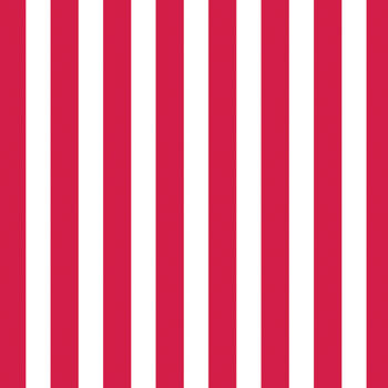 Canvas Corp White  & Red Stripe Printed Single-Sided Cardstock 12''x12''