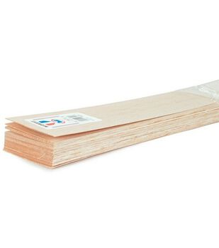 Balsa Wood Sheet 36''-1/4''X1''-10PK