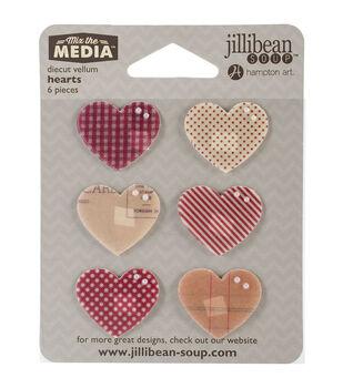 Jillibean Soup Mix The Media Hearts Vellum Die-Cuts
