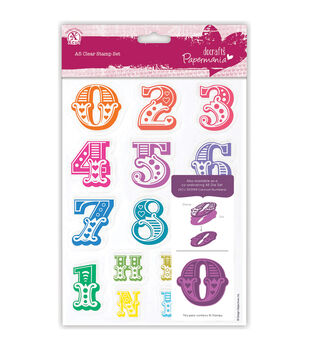Papermania Carnival Numbers A5 Clear Stamps