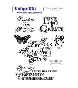 IndigoBlu Cling Mounted Stamp Discover Your Passion