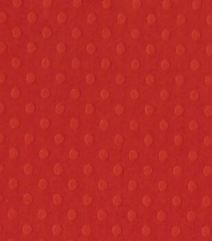Bazzill Dotted Swiss Cardstock Paper Fireball 12''x12''