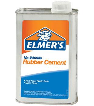 Elmer's No Wrikle Rubber Cement-16 oz.