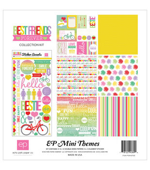"Echo Park Collection Kit 12""X12""-Best Friends Forever"