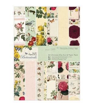 Papermania Botanicals Ultimate A4 Die-Cut/Paper Pack 48/Pkg-