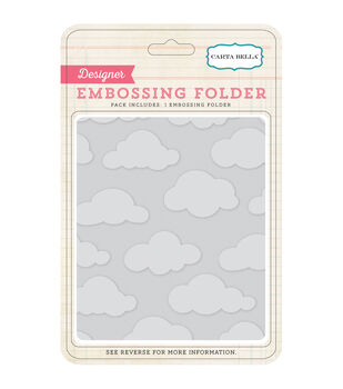 Carta Bella Clouds Embossing Folder 5''x5.875''