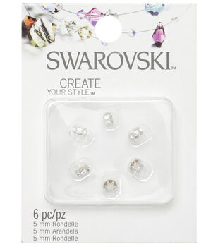 5mm Create Your Style Swarovski Roundelle Beads-Clear 6/pk