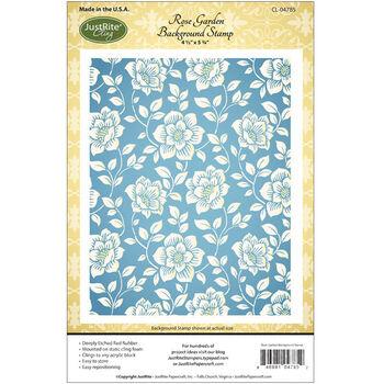 JustRite Papercraft Cling Background Stamp Rose Garden