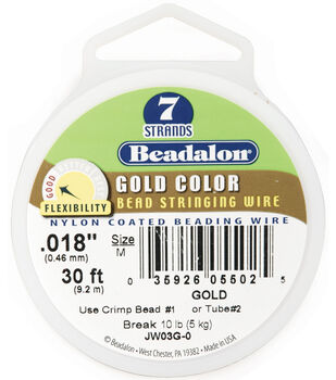 Beadalon Craft Series .018'' 7-Strand Stringing Wire-30ft/MANY COLORS