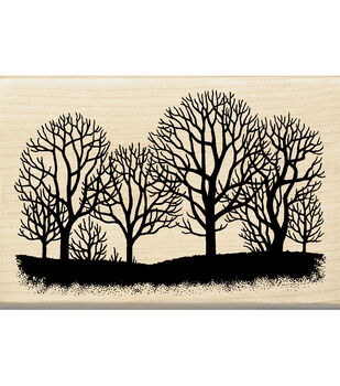 Inkadinkado Tree Silhouette Wood Mounted Stamp