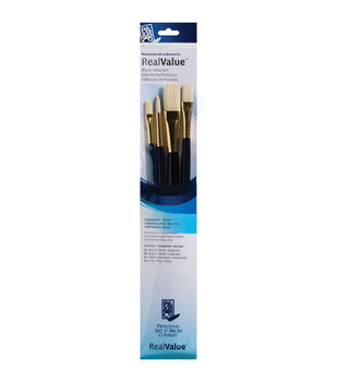 Brush Set Natural Bristle-Round 6, Filbert 4, Bright 8, Flat 12