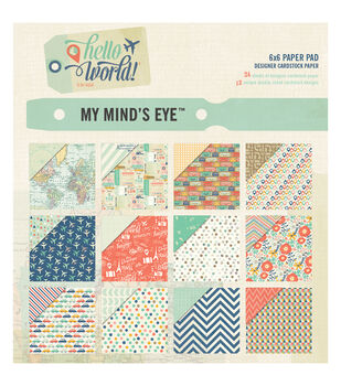 My Mind's Eye Hello World Paper Pad