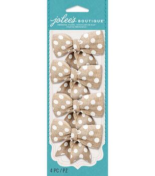 Jolee's Boutique - White Dot Burlap Bows