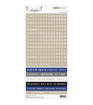 "Urban Market Stickers 6""X12""-Words"