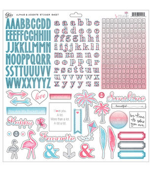 """Felicity Cardstock Stickers 12""""X12""""-Alphas & Accents"""