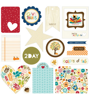 Bella Blvd Hello Autumn Paper Cardstock Die Cuts