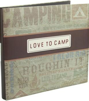 Karen Foster  12''x12'' Postbound Album-I  Love To Camp