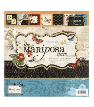Die Cuts With A View Premium Paper Stack Mariposa