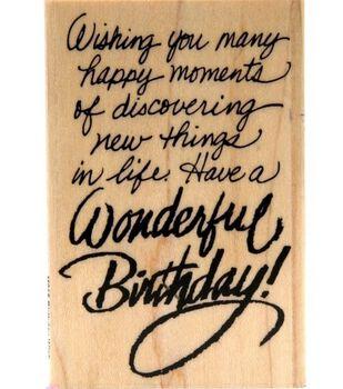 Stampendous Rubber Stamp-Birthday Wish