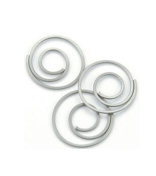 Metal Spiral Clips-25PK/Pewter