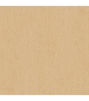 "American Crafts Textured Cardstock 12""X12""-Dark Kraft Woodgrain"