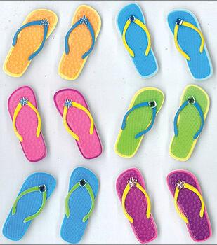 Jolee's Cabochons Stickers-Flip Flops
