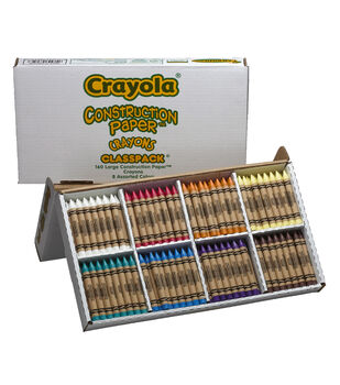 Crayola 160 count Large Size Construction Paper Crayon Classpack