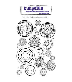 IndigoBlu Cling Mounted Stamp Circle Dot Background