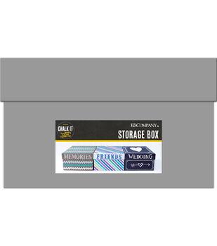 Chalk it Now - Gray Chalkboard Storage Box