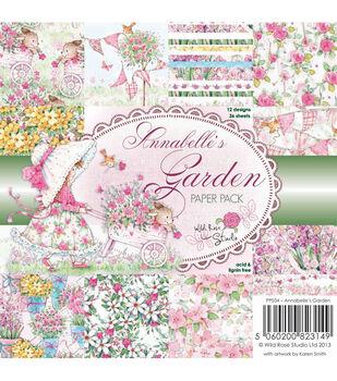 Wild Rose Studio Annabelle's Garden Paper 6''x6''