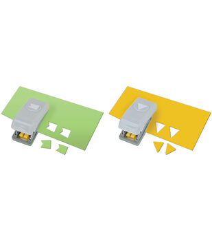 Slim Mini Paper Punches 2/Pkg-Pennants