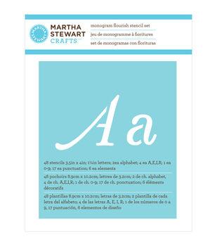 """Martha Stewart Paper Stencils 3-1/2""""X4"""" 48 Sheets/Pkg-Monogram Flourish"""