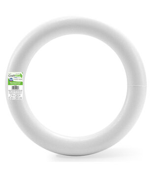 "Extruded Styrofoam Wreath 16"" Bulk-White"