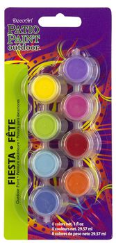 Patio Paint Fiesta 8 Pot Paint Pot 4x2