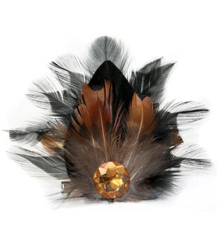 Laliberi Quick Clip Flowers 1/Pkg-Feather Drop Brown