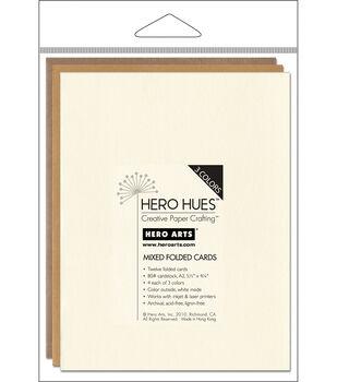 Hero Arts 5-1/2''x4-1/4'' Folded Cards-12PK/Earth Mix