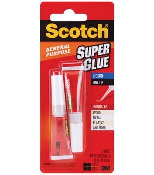 Scotch Super Glue Liquid 2/Pkg-.07oz
