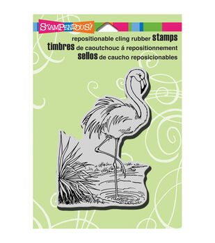 "Stampendous Cling Rubber Stamp 5.5""X4.5"" Sheet-Flamingo"