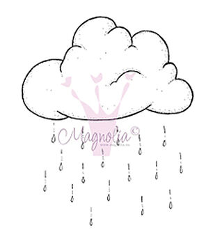 Magnolia Chasing Butterflies Rain Cloud Cling Stamp