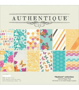 """Authentique Paper Pad 12""""X12"""" 20/Pkg-Radiant"""