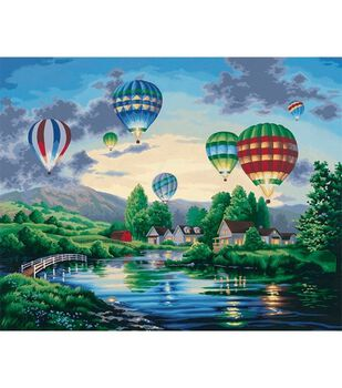 """Paint By Number Kit 20""""X16""""-Balloon Glow/Nicky Boehme"""