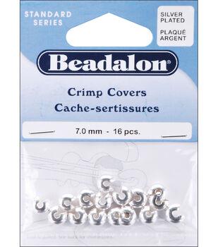 Silver Crimp Covers-7mm-16/Pkg