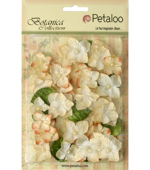 Floral Embellishments Velvet Hydrangeas With Glitter 36/Pk-Many Colors